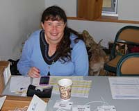 Shanon at the Registration table